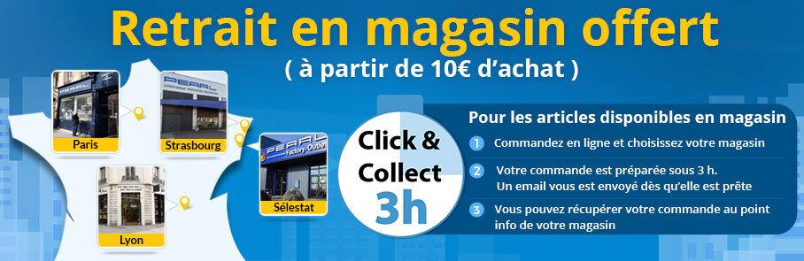 bannière click & collect magasin - Paris, Strasbourg, Lyon et Sélestat