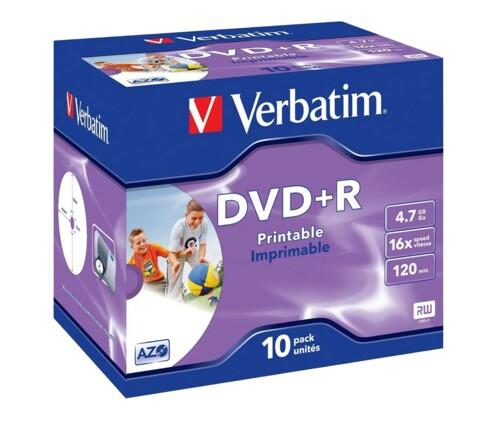 DVD+R Verbatim AZO Printable 4,7 Go (x10)