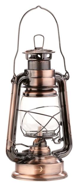 veritable lampe a petrole retro style marins avec flamme reglable et reservoir 180 ml couleur bronze 24 cm