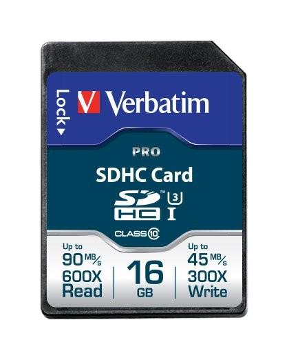 Carte SD Pro Verbatim - 16 Go