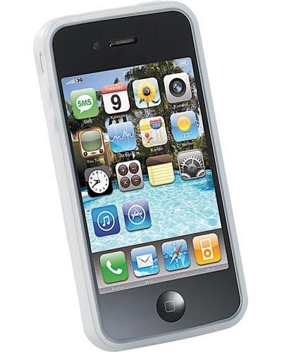 Coque de protection 2en1 pour iPhone 4/4S blanc transparent