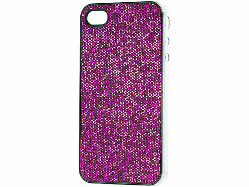 Coque de protection glamour pour iPhone rose pétillant