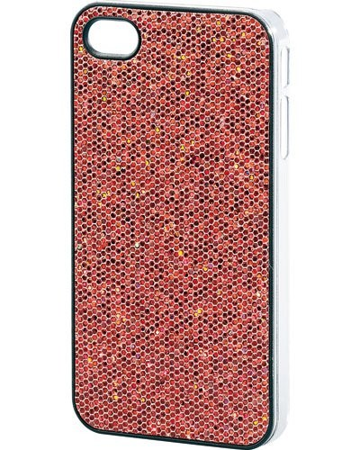 Coque de protection glamour pour iPhone rouge pétillant
