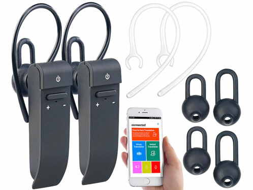 2 oreillettes intra-auriculaires bluetooth avec fonction traduction IHS680.tl