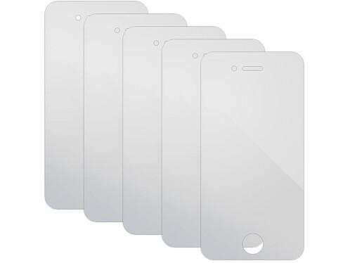 5 films protecteurs transparents pour écran iPhone 4 / 4S