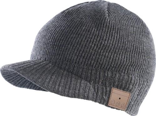 Bonnet à visière Bluetooth avec micro-casque intégré - gris