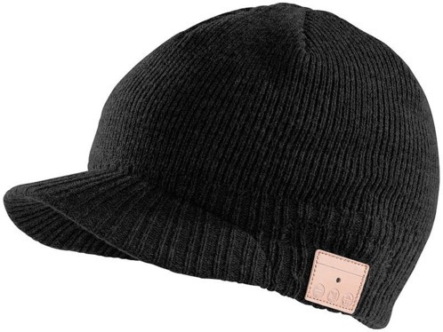Bonnet à visière Bluetooth avec micro-casque intégré - Noir