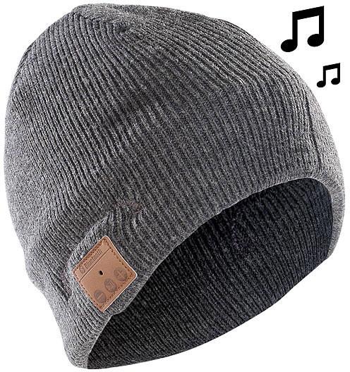 Bonnet ''Beanie'' Bluetooth avec micro-casque intégré et radio FM - gris