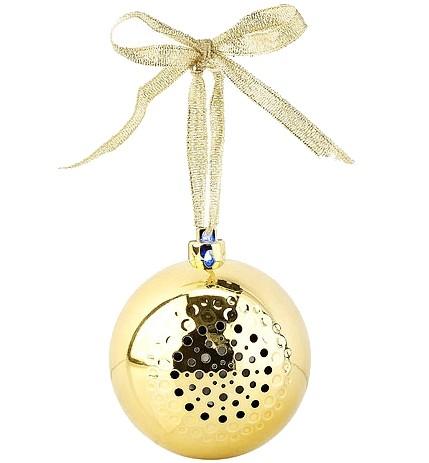 Boule de Noël avec bluetooth et haut-parleur intégré - Or