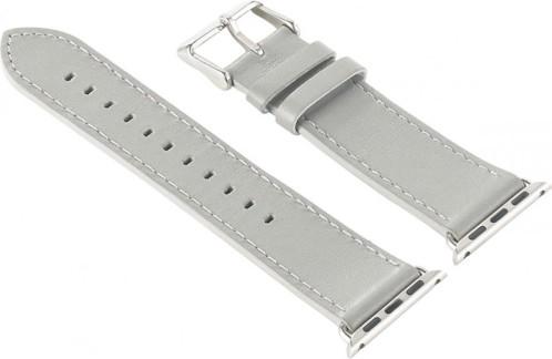 Bracelet en cuir pour Apple Watch - 38 mm - Gris