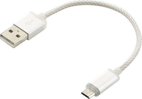 Câble Micro-USB angenté à LED - 0,15m