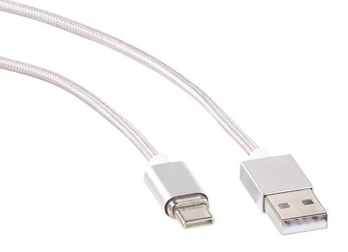 Câble USB transfert & chargement 1 m à connecteur magnétique USB-C