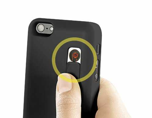 Coque de protection avec allume-cigare intégré pour iPhone 5 / 5S / SE