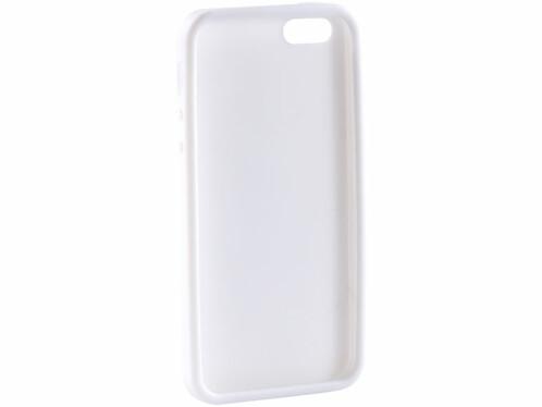 Coque de protection en silicone pour iPhone 5 / 5S / SE - blanc