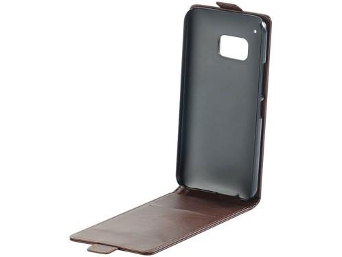 Étui de protection à clapet pour HTC One M9 - Brun