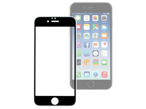 façade de protection en verre trempé 9h asahi sans cadre extra fin pour iphone 6 plus et 6s plus noir