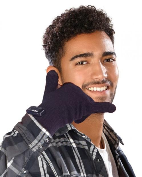 Gants homme pour smartphones avec bluetooth
