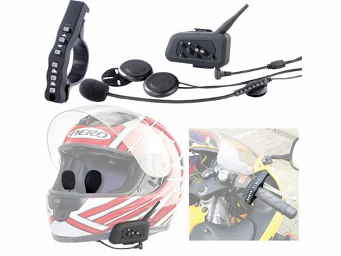 Micro-casque intercom avec bluetooth pour casque de moto