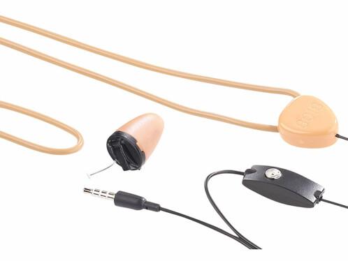 Micro-casque intra-auriculaire avec boucle à induction.