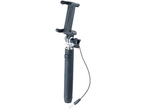 perche a selfie telescopique 70 cm avec déclencheur filaire par prise jack somikon