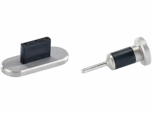 Protège-connecteurs en aluminium pour iPhone 5 - argent