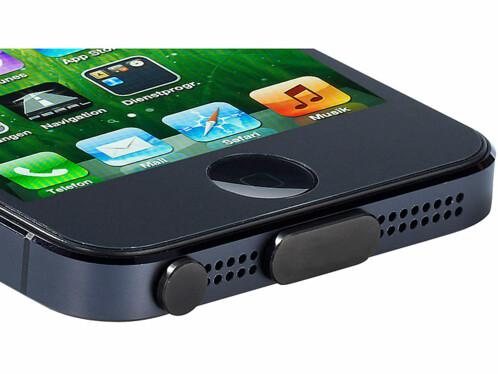Protège-connecteurs en aluminium pour iPhone 5 - noir