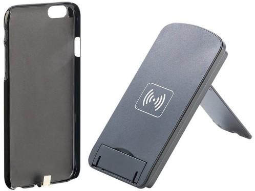 coque avec adaptateur qi pour iphone avec station de chargement. Black Bedroom Furniture Sets. Home Design Ideas