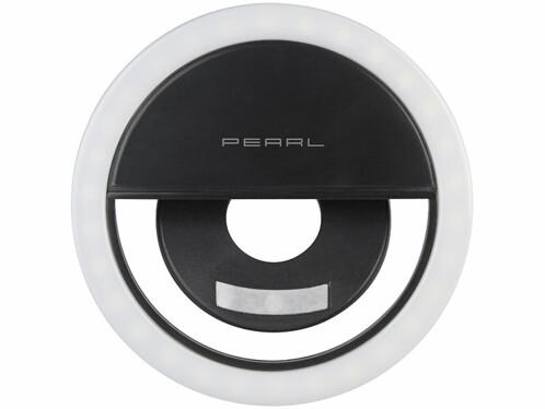 Anneau LED sans fil Ø 8,5 cm pour fixation sur smartphone