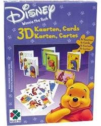 16 cartes de vœux 3D ''Winnie L'Ourson''