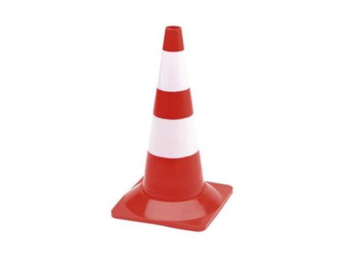 Cône de signalisation rouge et blanc - 50 cm