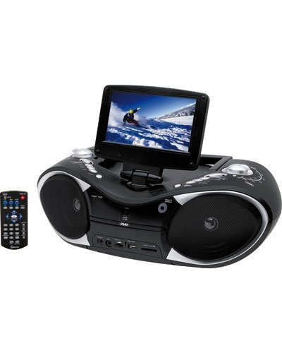 acheter lecteur dvd portable boombox 7 39 39 moins cher. Black Bedroom Furniture Sets. Home Design Ideas
