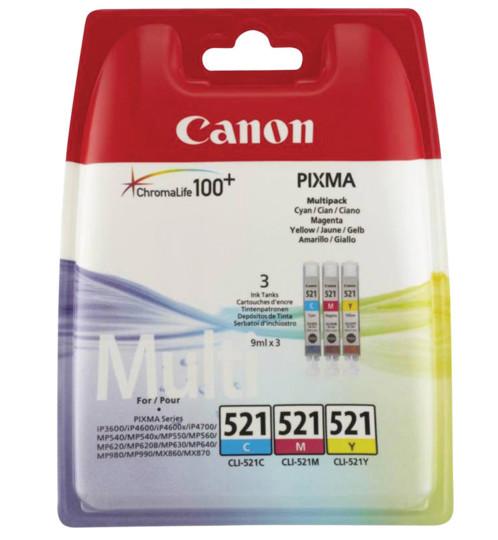 Pack cartouches originales Canon ''Cli521'' couleur