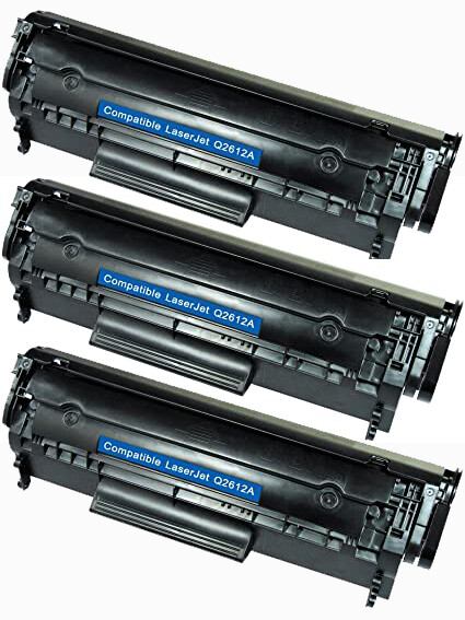 Toners compatibles HP ''Q2612A'' par 3