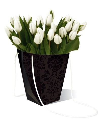 Vase En Carton Imperméable - Noir Classique
