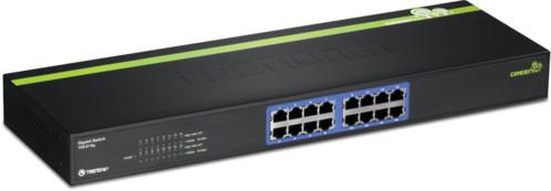 switch internet gigabit ethernet 16 ports rj45 jusqu'à 2000 mbits faible consommation trendnet teg s16