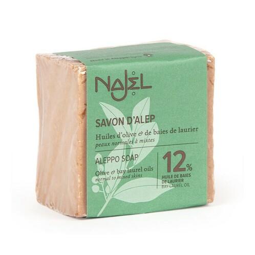 Savon d'Alep enrichi de 12% d'huile de baies de laurier - 170 g