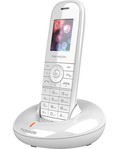 achat t l phone sans fil thomson 39 39 onyx 39 39 blanc avec. Black Bedroom Furniture Sets. Home Design Ideas