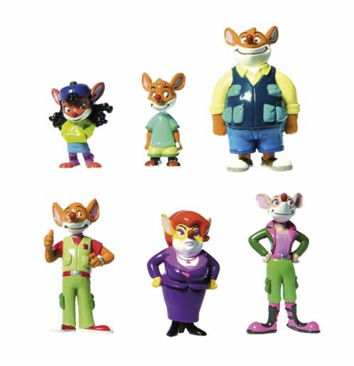 6 figurines Geronimo Stilton