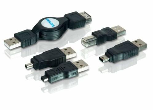 Câble USB rétractable 5 en 1 - 1m