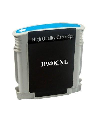 Cartouche remanufacturée HP N°940 XL C4907AE - Cyan