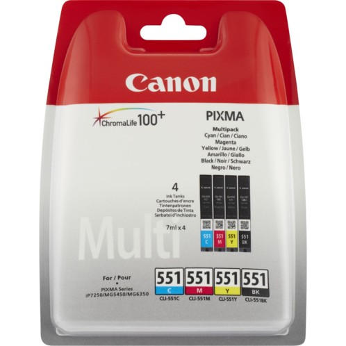 Cartouches originales Canon CLI-551 - Pack
