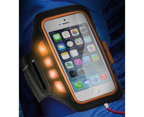 Brassard de protection pour iPhone 5 / 5S / SE avec témoins LED