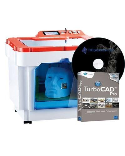 Imprimante 3D EX1 + logiciel TurboCad 20 Pro + TriScatch