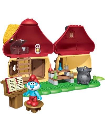 Maison du grand schtroumpf par megabloks jeu de construction mixte - Schtroumpf maison ...