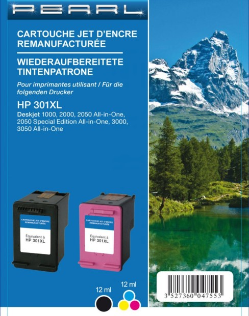 Pack cartouches remanufacturées HP N°301 XL