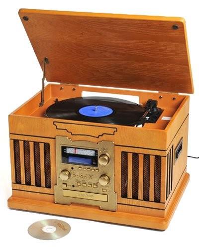 platine vinyle design retro avec graveur cd pour cassette et vinyle. Black Bedroom Furniture Sets. Home Design Ideas