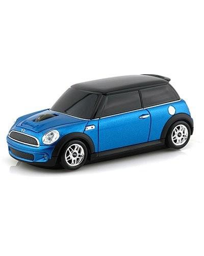 souris voiture sans fil mini cooper bleu landmice. Black Bedroom Furniture Sets. Home Design Ideas