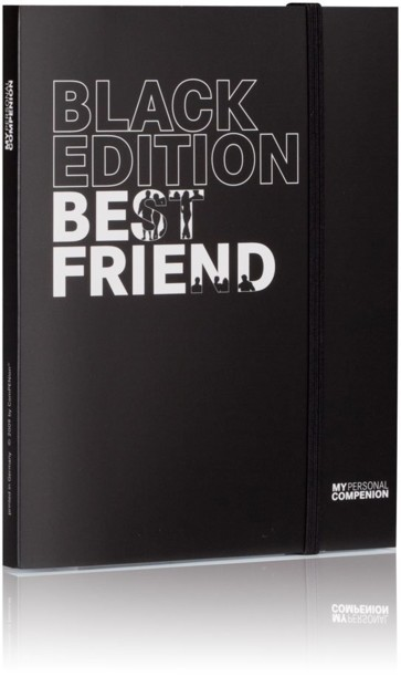 Bloc-notes A5 ''My Personal Compenion'' - ''Black Edition'' Best Friend