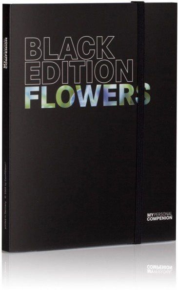 Bloc-notes A5 ''My Personal Compenion'' - ''Black Edition'' Flowers