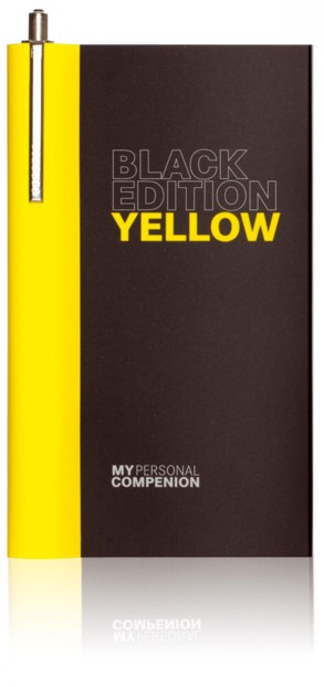 Carnet A7 ''My Personal Compenion'' - ''Black Edition'' Yellow